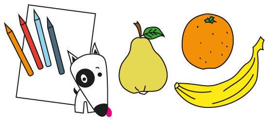 Coloriage n°01 - les fruits de l'automne