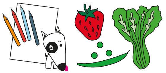 Coloriage n°19 - que manger au mois d'Avril ?