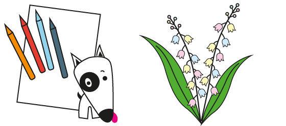 Coloriage n°20 - fête le 1er Mai