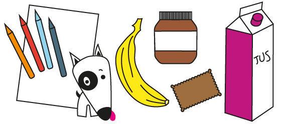 Coloriage n°23 - les aliments du goûter