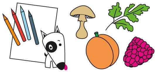 Coloriage n°24 - la famille des fruits et légumes