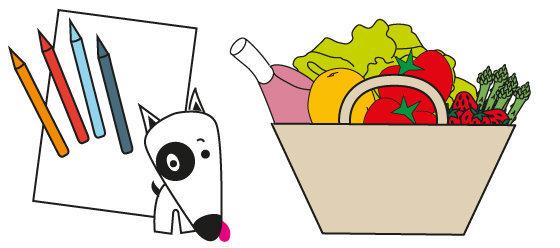 Coloriage n°05 - que manger au mois de Mai ?