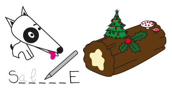 Mots cachés n°1 - les aliments de Noël