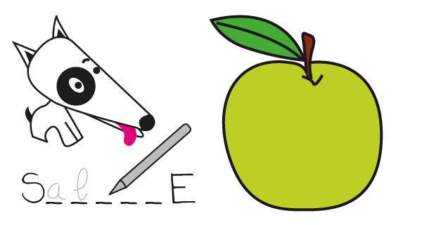 Mots cachés n°2 - la pomme