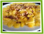 Carpaccio d'ananas au miel et aux amandes
