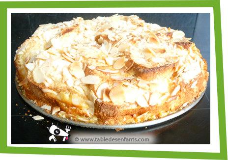 Gâteau de pain perdu aux amandes