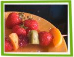 Brochettes de fruits Printanières