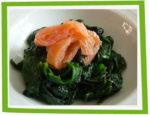 Epinards frais au saumon