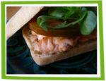 Hamburger Rose au saumon