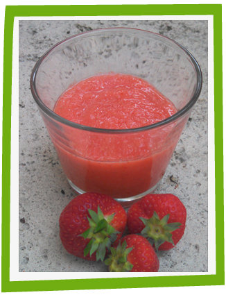 Purée fraîche de fraises